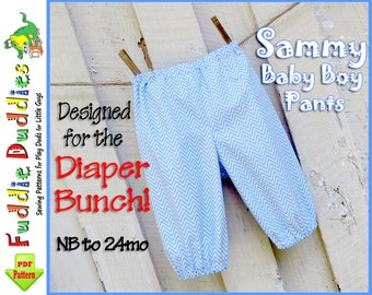 Quick and Easy Baby Boy's Pants Pattern. Baby Pants Pattern. Infant Pants Pattern, Boy's Sewing Pattern. Infant Sewing Pattern. NB-24months.