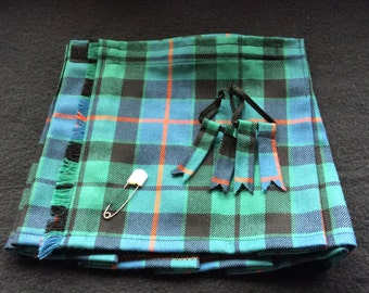 Baby Kilt, 12-18m with flashes in Morrison Ancient tartan, 100% Pure New Wool,