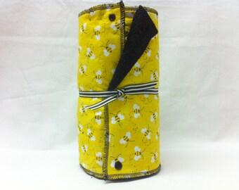 Unpaper towels, reusable paper towels, cloth paper towels, snapping paper towels  - Yellow Bees