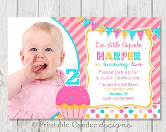 Cupcake Birthday Invitation - DIY Custom Printable