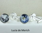 Solar system Cufflinks - Space Image of your choice Cufflinks - Universe, Planets, Moon, Sun, Milky Way, Stars, Nebulae - Gift for Him.