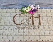 100-150 piece Wedding Guest Book Puzzle -Guest Book Alternative