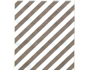 Grey Stripe Middy Favor Bags, 25 Pack