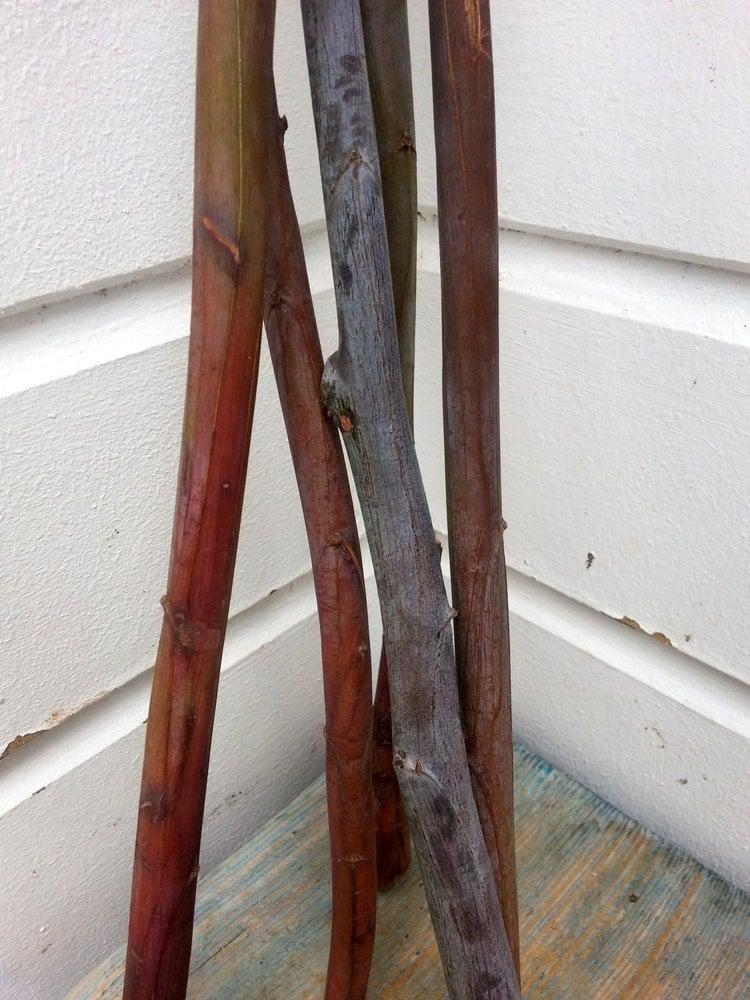 lange akazie sticks nat rliche holz d bel von pineneedlesweetgrass. Black Bedroom Furniture Sets. Home Design Ideas