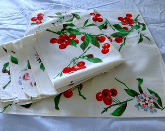 Set of 6 Wilendure Cherry Napkins