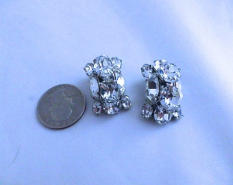 Vintage Eisenberg Ice Crystal Earrings