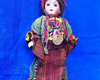 Antique Bisque Doll in Ethnic Costume