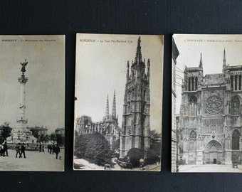 Vintage Bordeaux France Antique Post Cards