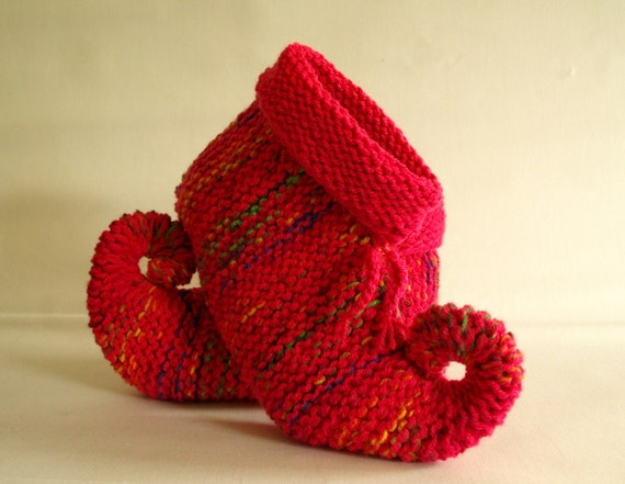 knitted slippers pixie slippers elfin slippers jester