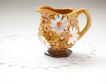 Creamer Gold and White Daisies 1970s
