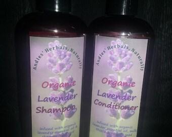 Organic Lavender Shampoo & Conditioner Combo//Organic Shampoo and Conditioner Combo