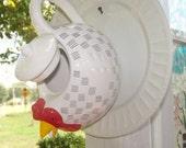 Chicken Teapot Birdhouse