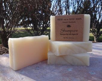 Shampure Shampoo Bar with Argan Oil, Natural Handmade Soap, Cold Process, VEGAN