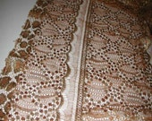 No. 300 Solstiss Gold & Bronze Metallic Chantilly Edging Lace; Flawed; See Description Below