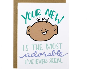New Baby Card - Adorable New Baby