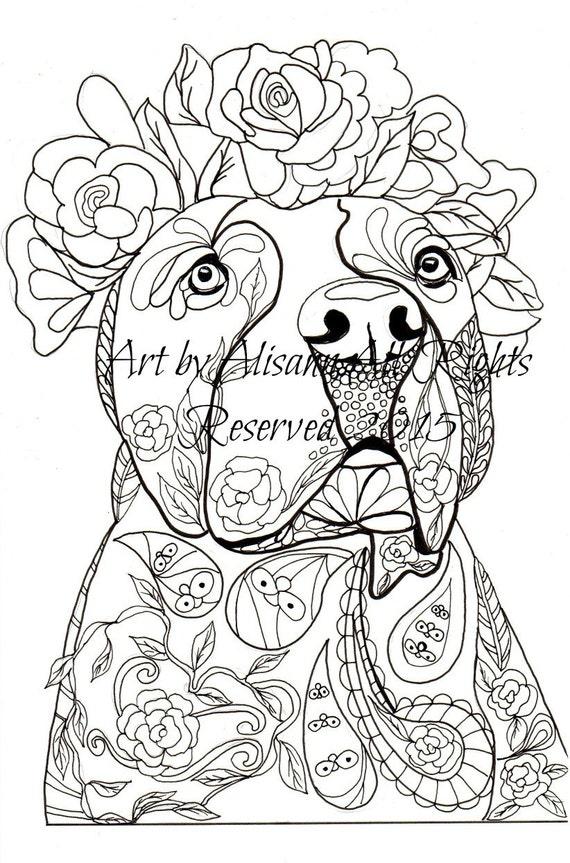 Love Pitbulls Digital Download Dog Art
