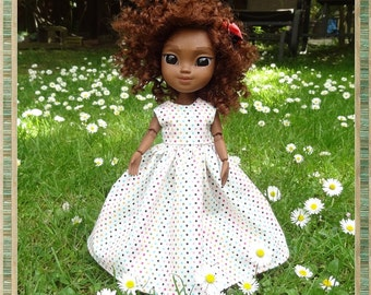 Lovely Summer Polka Dot Sleeveless Dress for Makies Doll