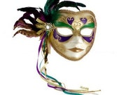 Mardi Gras Krewe Full Mask Coaster New Orleans