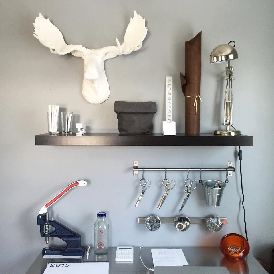 Large White Moose Head Faux Taxidermy Wall Mount By