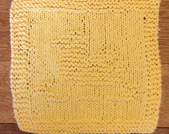 hand knit duck wash cloth