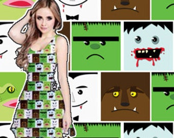 Classic Movie Monsters Sleeveless Dress