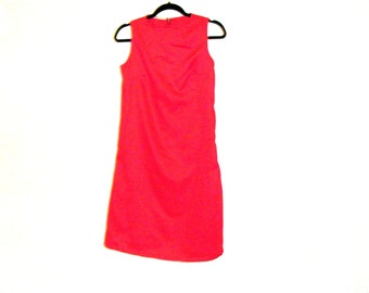 Red Dress, Slip Dress, Cotton Dress, Womens Dress, Size 8, Size 6, By Rebeccas Clothes