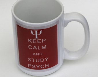 Keep Calm and Study Psych Mug Psychology Gift Psychology Mug Psych Mug Psych coffee cup
