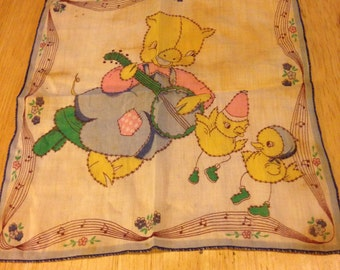 Child's Handkerchief with Embroidery Markings