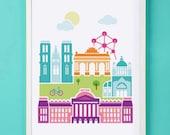 Brussels Art Print for Nursery or Children's Room Decor