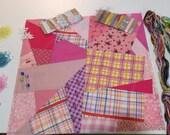 Pink CD style Crazy Quilt pincushion (CQ) Kit