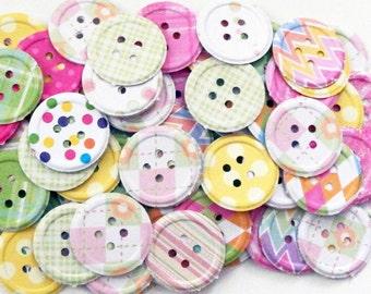 100 Nursery Embossed Buttons,Embellishments,Scrapbooking,Confetti,Invitations