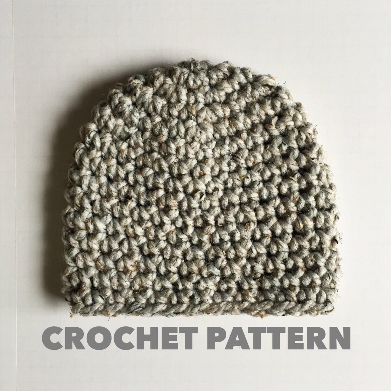 Granite Beanie Crochet Pattern Womens Chunky Beanie Pattern