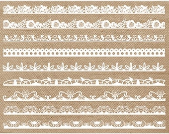 Borders - Shabby Chic Lace Borders, lacey borders, lace texture, white lace border, cream lace border, black lace clipart, wedding lace