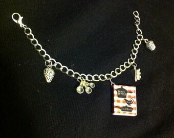Deluxe Cookbook Mini Book Charm Bracelet