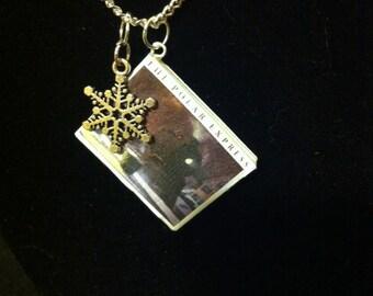 Polar Express Mini Book Necklace With Snowflake Charm