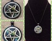 Celestial Satanic Glowing Pentacle - Silver