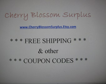 Free Shipping Coupons & Other Wonderful Codes - Don't Purchase this Listing, Scroll Down for the Coupon Codes