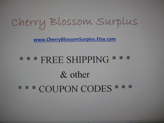 Free shipping coupons may not apply to all items in your cart as codes vary for each Esty shop. You can only apply one coupon per listing in your checkout. Some Etsy shop items may require you to purchase a minimum quantity or amount in order for the discount to apply.