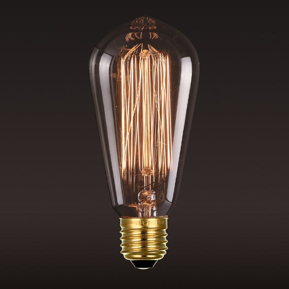 edison squirrel cage light bulb 40 watt filament bulb. Black Bedroom Furniture Sets. Home Design Ideas