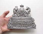 Siebe Gorman and Co. Builders Plate - Nautical Decor - Ship Builders Placque