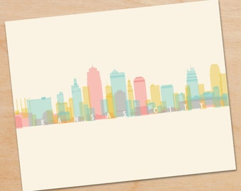 Kansas City Skyline Print, Kansas City Wall Art, Kansas City Print, Kansas City Art, Decor, home decor, poster
