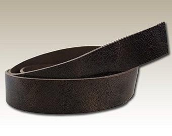 Vintage Chocolate Buffalo Hide Belt Strip - Genuine Leather #133-