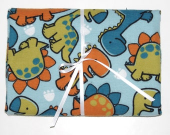Extra Large Receiving/Swaddle Blanket - Dinosaur Animals