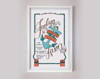 Customized Nautical Wedding Print 11x17