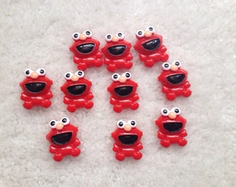 10 pieces of Elmo resins boy resins red cabochons flatback last one in stock