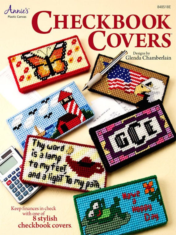 Pattern For Book Cover : Plastic canvas patterns annie s checkbook covers