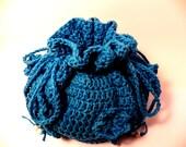 Crochet purse-bags and purses-free shipping-crochet drawstring bucket bag- casual bag-handmade-beads-handbag