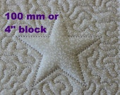 EMBROIDERY PATTERN 100 mm in-the-hoop quilt block - trapunto star for 100 mm hoop