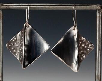 Four Corners Sterling Silver Earrings