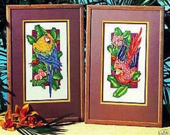 Paradise Macaws Cross Stitch Chart Pattern Paul Brent 2 Stunning Designs
